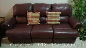 3-Seater Leather Recliner Couch