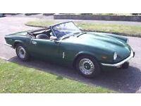 1972 triumph spitfire mk.1v 1300