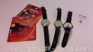 3 Disney watches with watch batteries