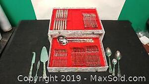 12 Place Setting Flatware Set In Box