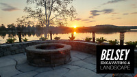 RETAINING WALLS, LANDSCAPING, FIRE PIT PATIOS EXCAVATOR SERVICES