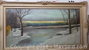 Large Oil Painting Signed by McCarnan