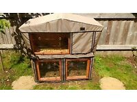 Charles Bentley 2 storey Rabbit Hutch, with Deluxe cover