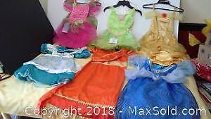 6 girls' 3T-4T & 4-6X princess dresses / costumes
