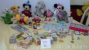 Disney toys, plush animals, wooden blocks & puzzle and more