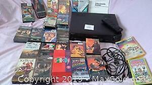 Sony VHS player with remote & VHS movies