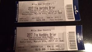 2017 Tim Hortons Brier Tickets