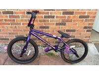 Haro Purple BMX Stunt Bike with Stunt Pegs RRP £250