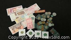 Mixed Variety of Coin and Currency ...M