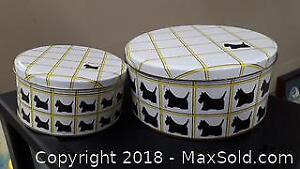 2 Cookie Tins Scottie Dogs A