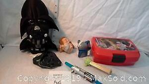 Star Wars lot of toys & heavy breathing Vader plush