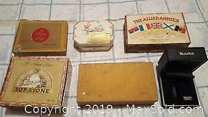 Vintage early 1900s cigar boxes