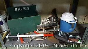 Vintage Ice Skates And Outdoor Items