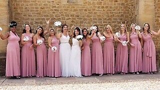 08e37da3e94 Rose Gold Blush Antique Rose Multiway Bridesmaid Maxi Dress Size 10 Marks  and Spencers