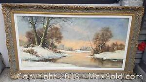 Mid 20th Century Original Oil Painting by H. Kerver