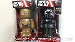 2 New Star Wars Wind Up Walking Tin Toy Action Figures
