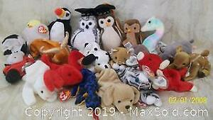 Old Store Stock Unused Group of 20 Assorted Ty Beanie Babies