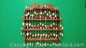 Souvenir Spoons on Wall Display ...W