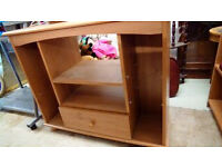 light wood tv cabinet