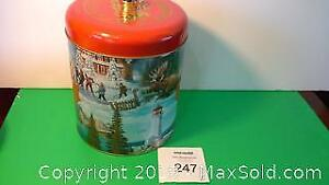 Water bridge Canadian collector tin with lid