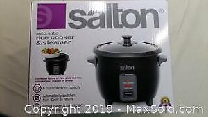 New Salton Automatic Rice Cooker And Steamer