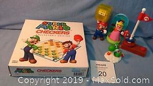 Nintendo Super Mario Bros checkers game & toys