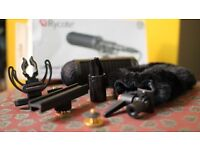 Rycote Universal Camera Kit shock-mount attachment for video cameras, windshield & windjammer