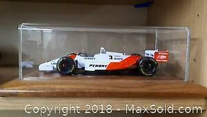 Penske Model Car in Display Case