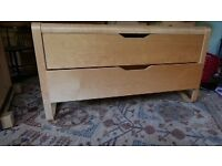 Ikea Birch finish chest of two drawers. Excellent condition