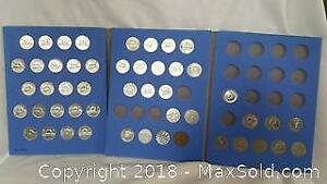 Old Canadian Nickle Coin Collection Lot