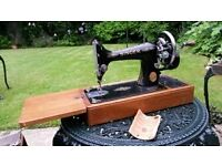 Vintage Singer Sewing Machine with Case and Original Tools