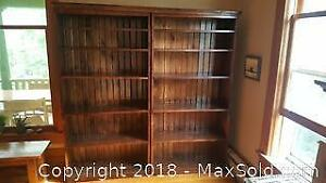 Pine Bookshelves.