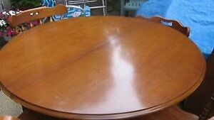 Maple Round Dining Table + Chairs