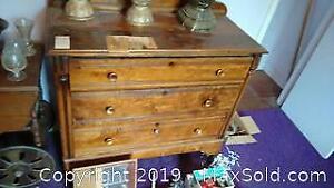 Antique Wood Dresser B
