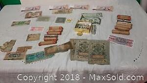 Currency Assortment. Canadian and Foreign.