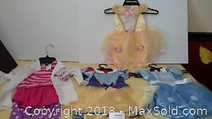 4 girls' size 6 to 12 months & 12 to 18 months princess dresses / costumes