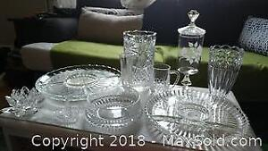 Crystal Platters And Vases A