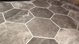 Porcelain Tile, Hexagon Taupe, for a small project