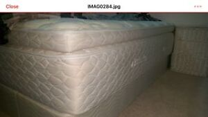 King size mattress (pillow top) and box spring London Ontario image 1