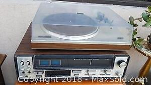 8-Track Recording Machine and a Turntable