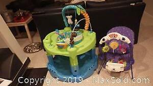 Baby Evenflo ExerSaucer and Fisher Price Seat A