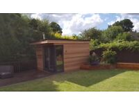 Garden Rooms fully insulated for all year round use. Various designs and sizes available