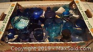 Cobalt blue glass antique