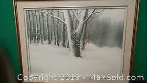 large framed pic of winter....s