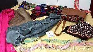 Fashion scarves & adjustable backpack with 2 snap closure