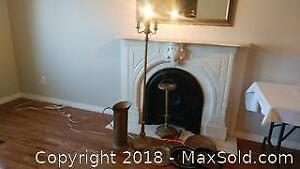 Antique lamp and Ashtray