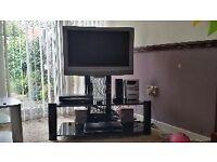 TV stand black gloss cheap bargain