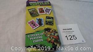 2 decks of Teenage Mutant Ninja Turtles cards in tin (new)