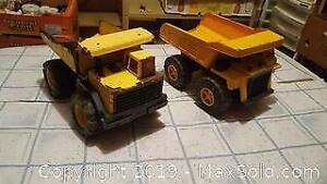 Vintage toy dump trucks. Tonka, Remco