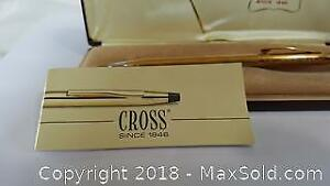 Vintage Cross Pen Gold Plated